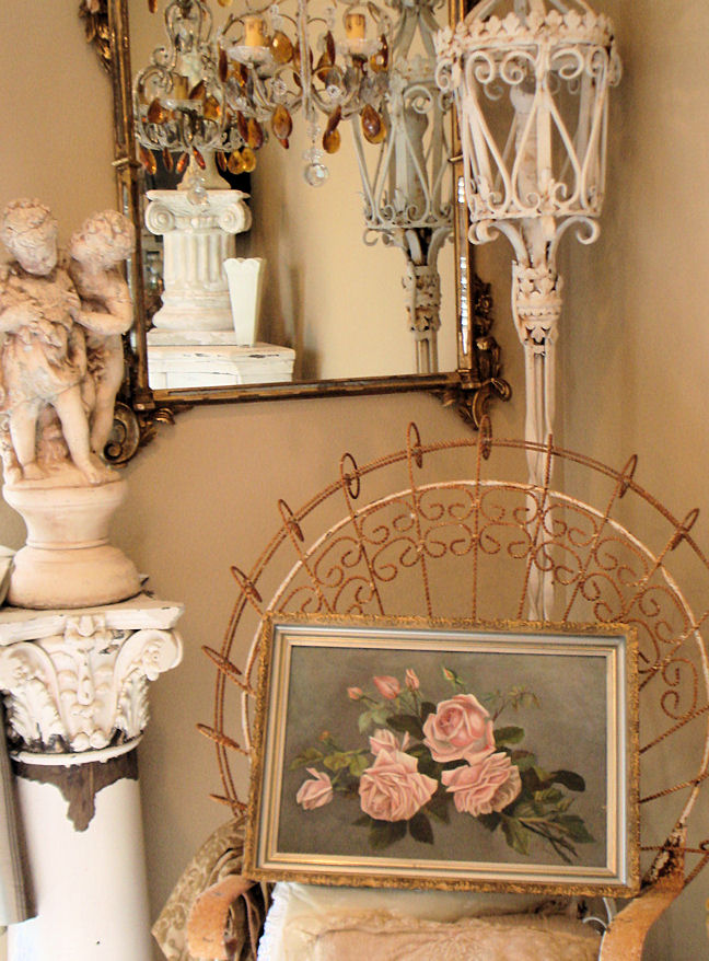 Victorian Silver Gilt Frame & Pink Roses Painting Stunning