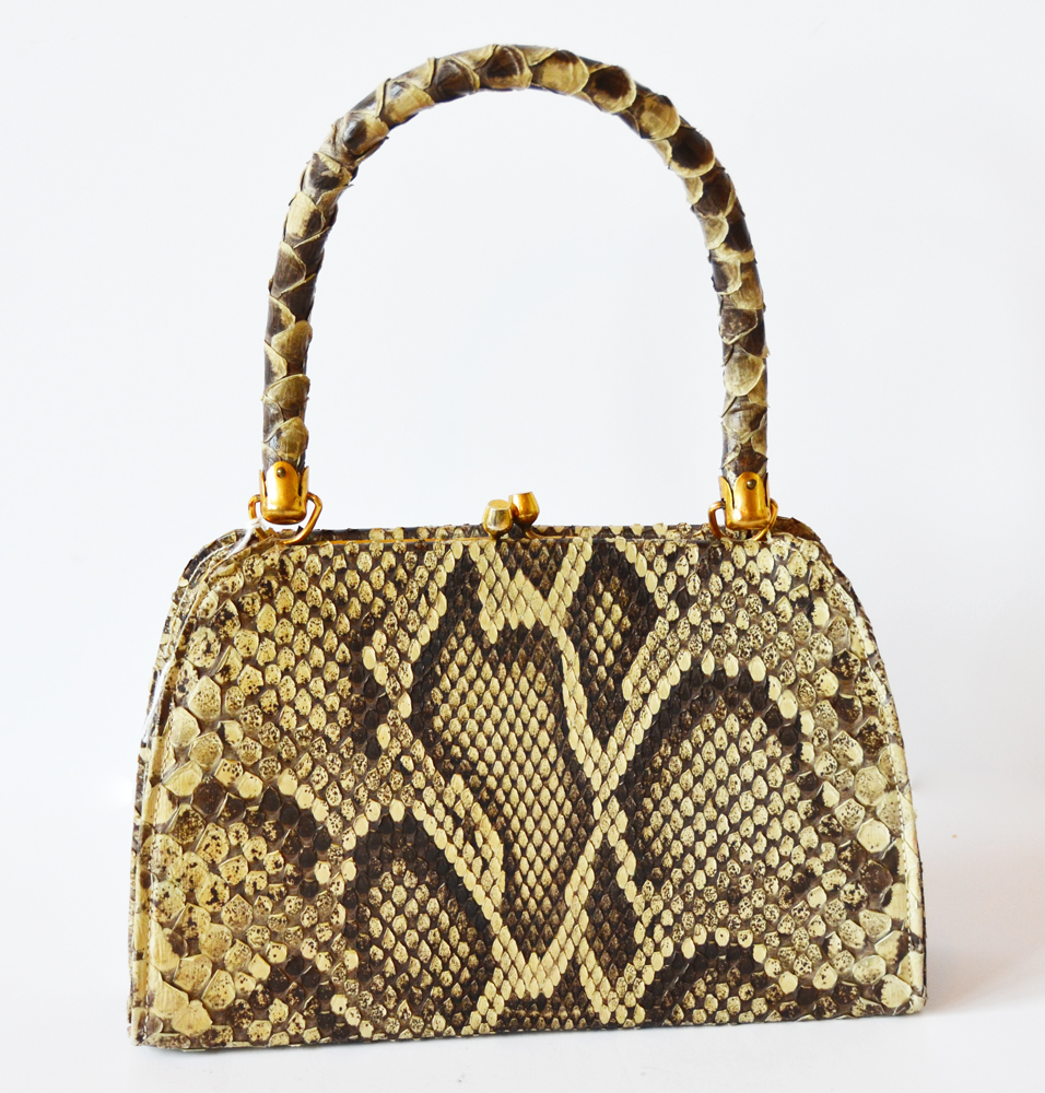 Antique Python Snake Purse/Handbag-