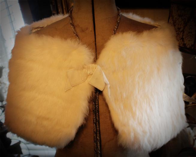 Vintage Rabbit Fur Cloak Shawl Gorgeous