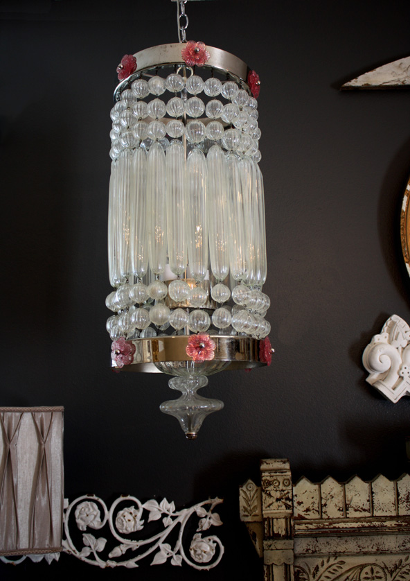 Unbelievable Murano Hand Blown Pendant Chandelier 1930s
