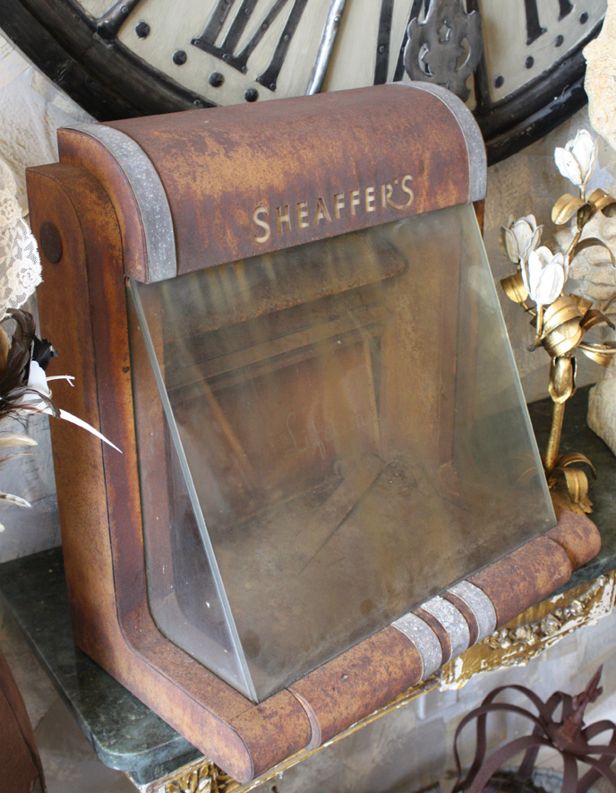 Rare Old Sheaffers Pen Art Deco Display Case-