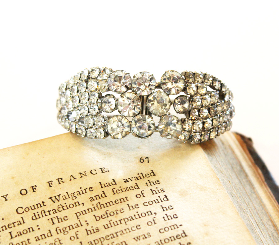 Antique Rhinestone Gorgeous Bracelet