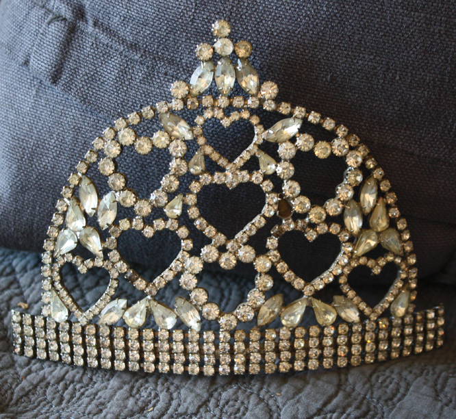 Incredible Antique Rhinestone Crown From Estate Collection-