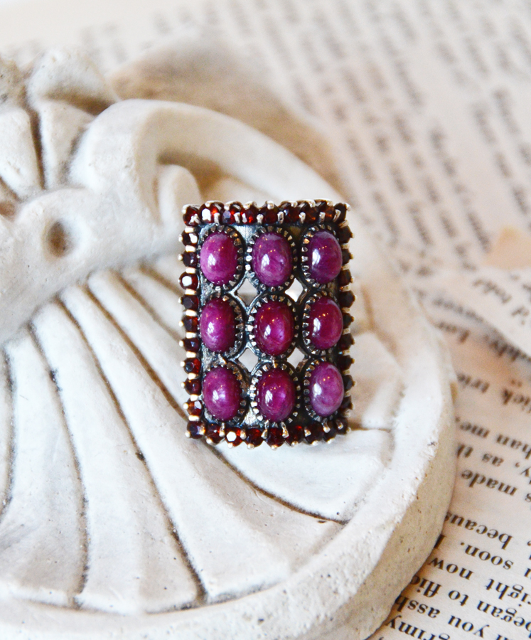 Incredible Large Ruby & Star Ruby Vintage Ring