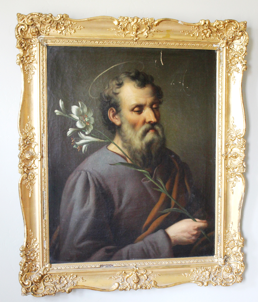 Antique Rare Late 18th Century Saint Joseph Painting