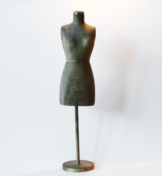 Rare Antique 1920s Salesman Sample Dress Form Mannequin-