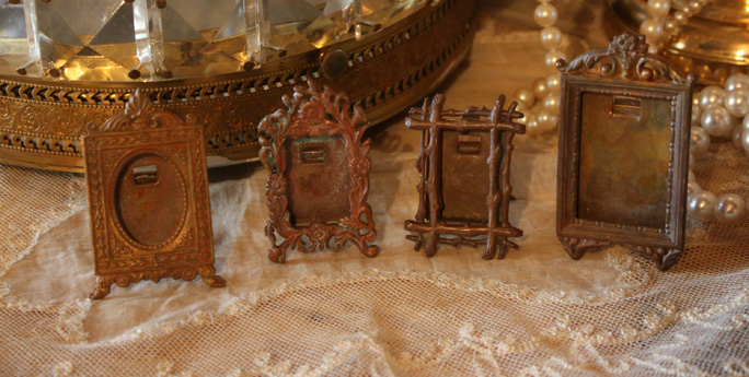Set of Four Miniature Portrait Frames French 1900s