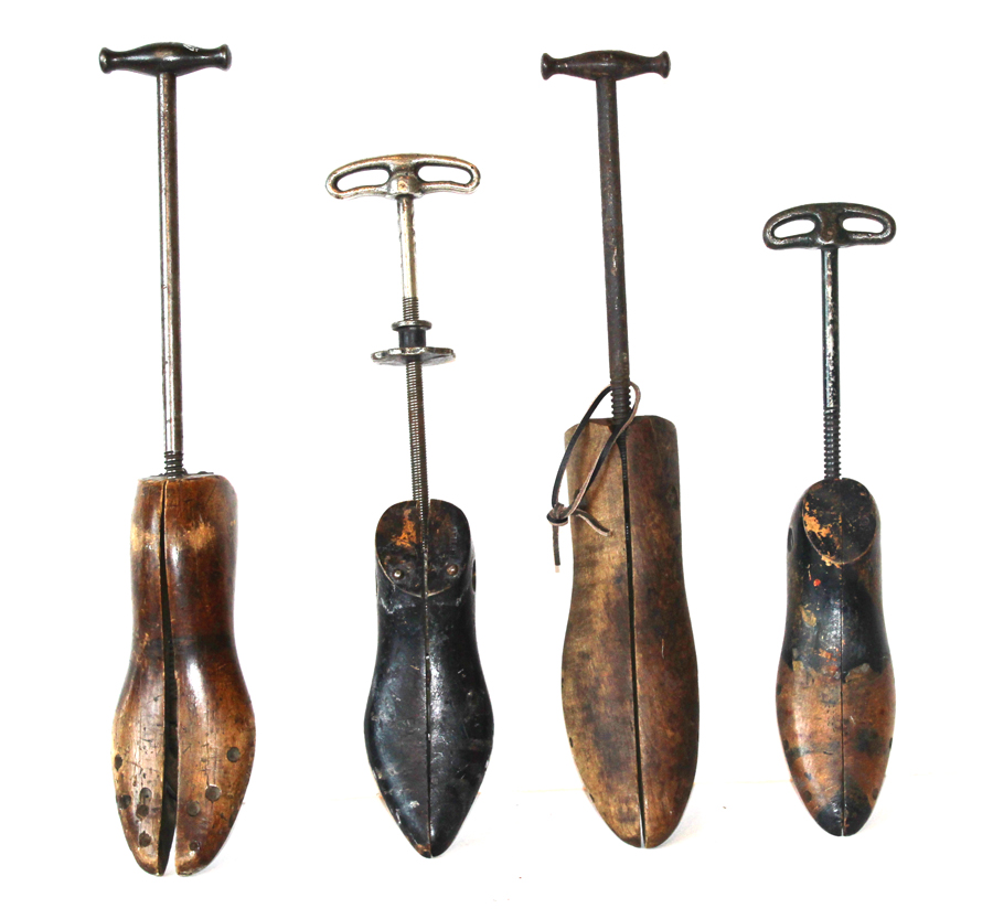 Set of Four Antique Shoe Stretchers-