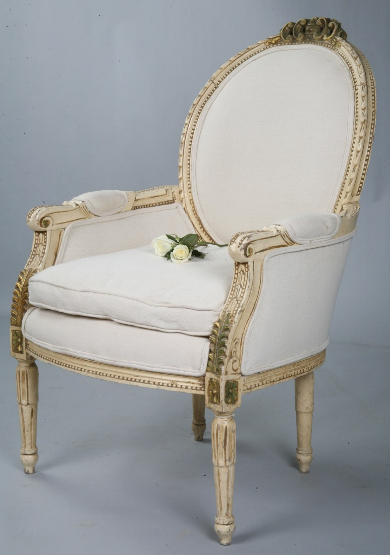 French Antique Incredible Carved Occasional Chair-
