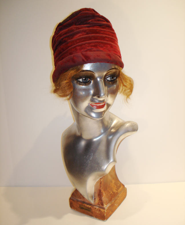 1920s German Art Deco Lifesize Flapper Bust-