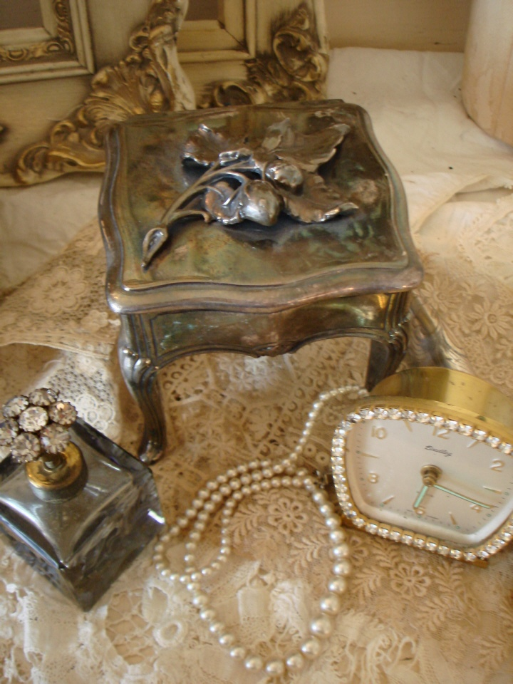 FRENCH ANTIQUE Silver Tall CASKET/JEWEL BOX-