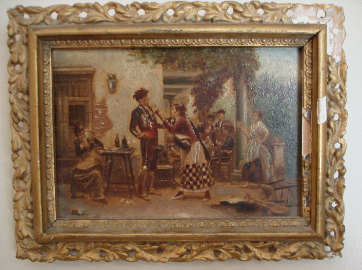 Incredible Antique Miniature European Painting-