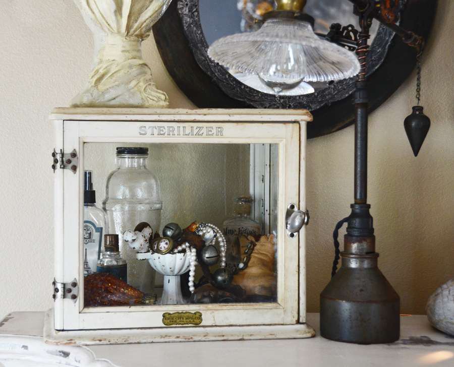 Rare Antique Store Counter Display Curio Cabinet-