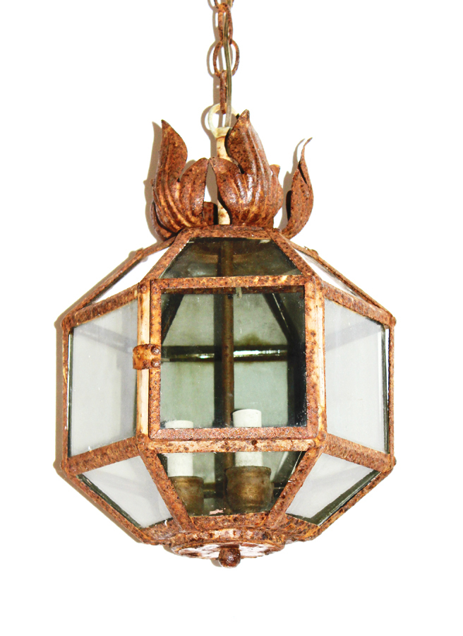 Incredible Early 1900s Hanging Lantern From Provence