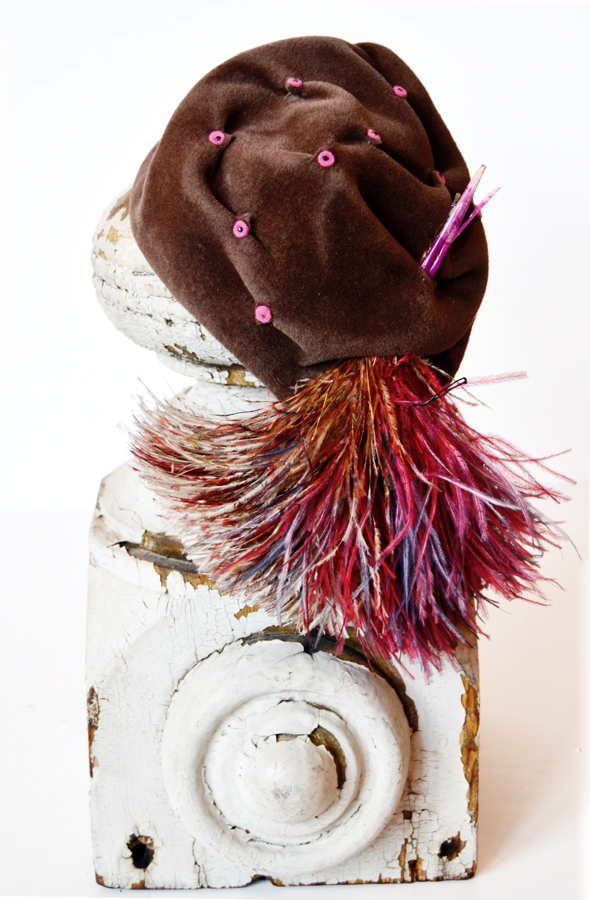 Antique Flappers Velvet & Feathers Hat-