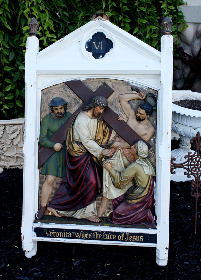 Circa 1870s Rare Stations of the Cross Carved Wood-