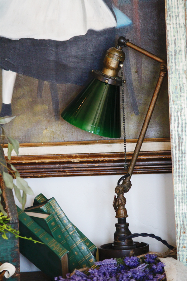 One of a Kind Artist Made Industrial Table Lamp Steam Punk
