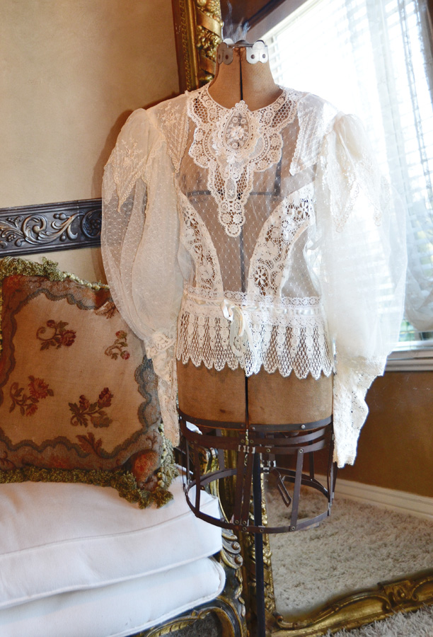 Incredible Antique Victorian Lace Shirt/Blouse-