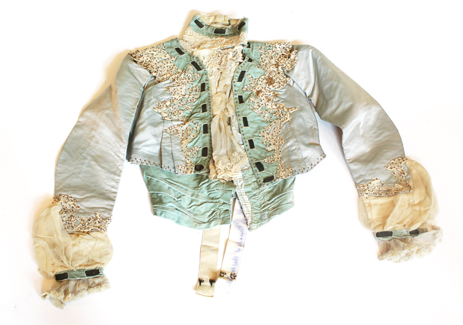 Incredible Antique French Silk Fashion Jacket Incredible Details-