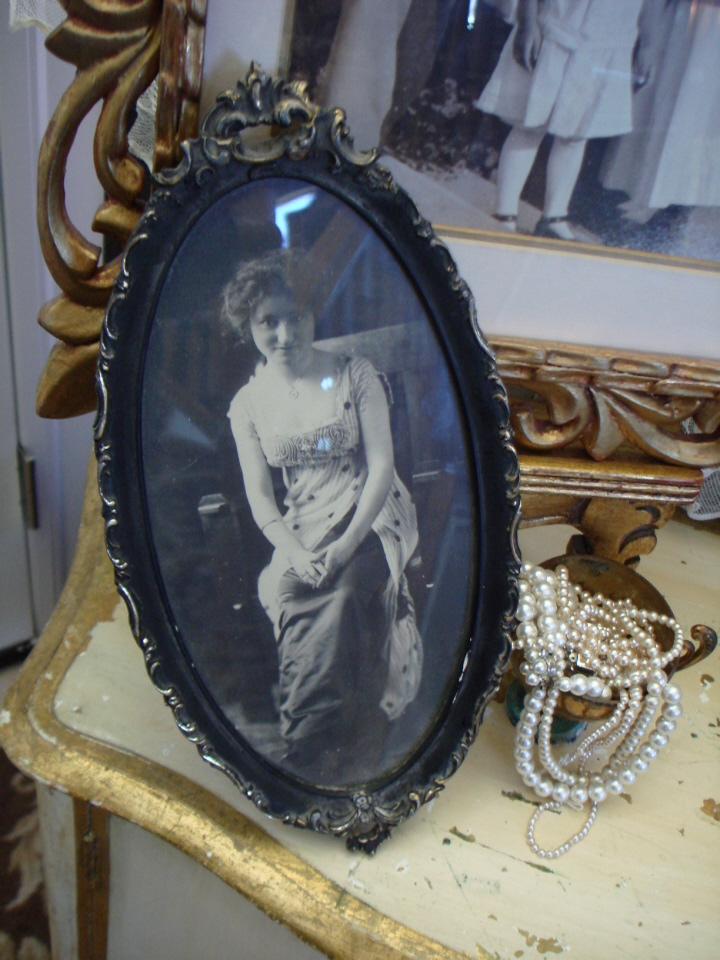 Victorian French Ebony Framed Beautiful Print-