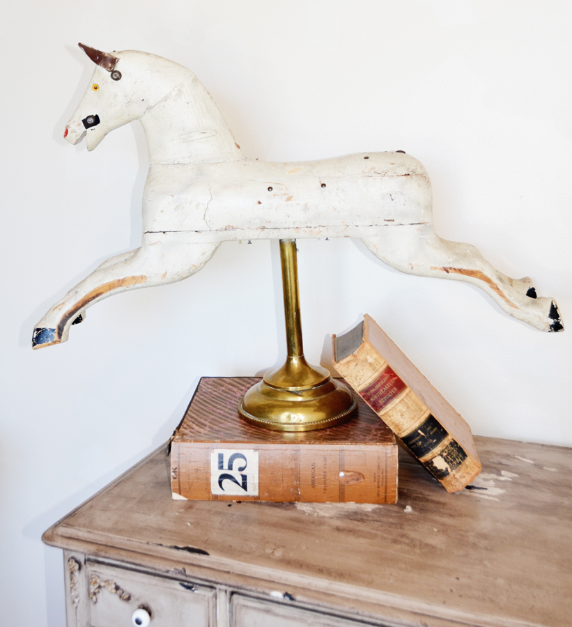 Rare Antique Victorian Wooden Horse by Whitney Reed-