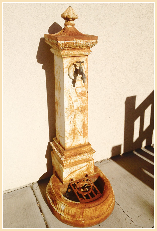 Antique French Cast Iron Drinking Fountain-