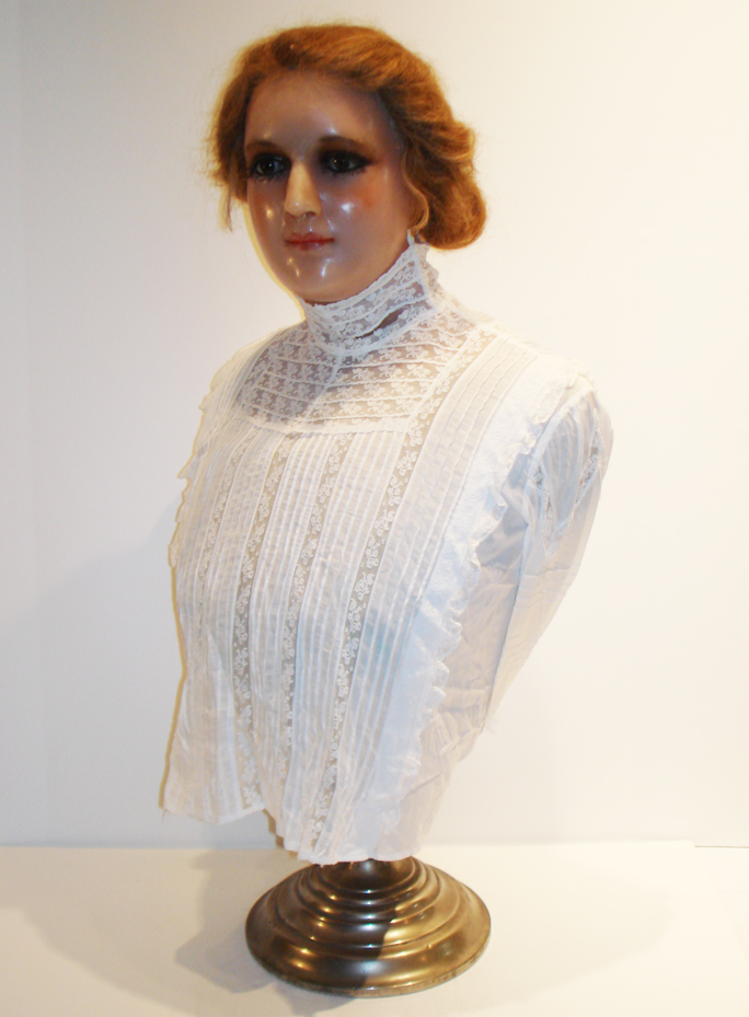 American Made Rare Late 1800s Wax Lifesize Mannequin-