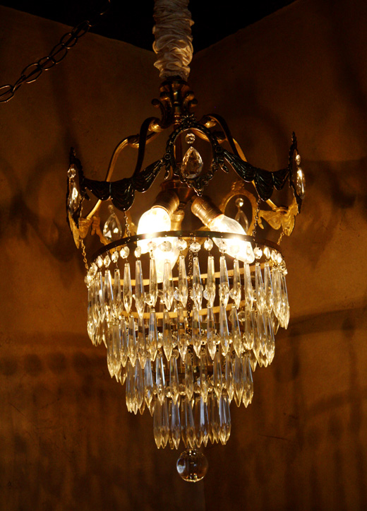 French Antique Wedding Cake Style Crystal Chandelier Stunning