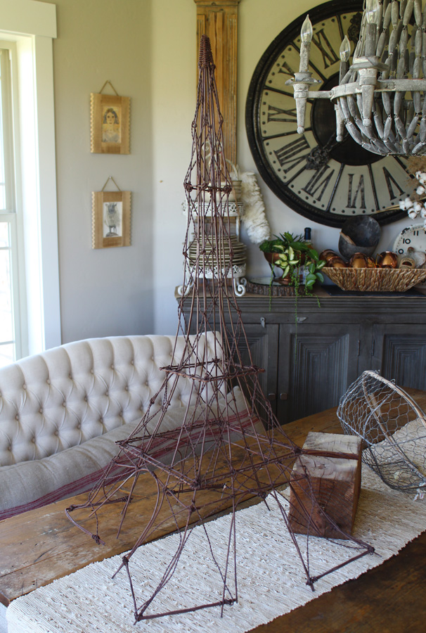 Antique French Wire Handmade Eiffel Tower Xlrg