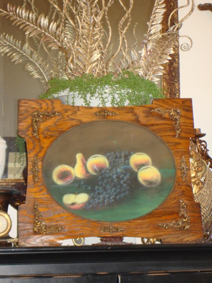 Original Ornate Framed Antique Fruit Painting Exquisite-